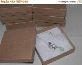 On Sale Kraft 50 3.5x3.5x1 Cotton filled Jewelry Presentation Retail Gift Boxes