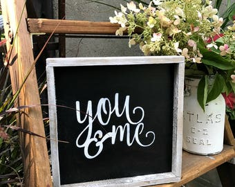 Wooden Signs, You And Me, Home Decor, Wood Sign Saying, Gift For Spouse, Valentines Decor, Rustic Wedding Gift, Sign For Wedding, Love Quote