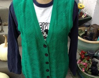 Kelly green vest   Etsy