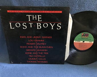 "RARE Vintage ""The Lost Boys"" Original Soundtrack, Vinyl LP Record, First Press, INXS, Gerard McMann Cry Little Sister, Echo And The Bunnymen"