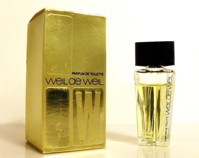 Vintage 1970s Weil de Weil Parfum de Toilette Splash Mini Miniature and Box PERFUME