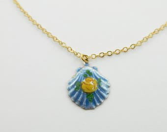 Painted Seashell Necklace