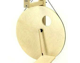 Louet S10 Concept Spinning Wheel - Birch Single Treadle - Castle Wheel