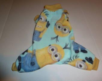 Small, Medium, Large PJs, Fleece Doggy Pajamas, Minions Pajamas, Minions PJs, Winter doggy Pajamas, Doggy Onesies