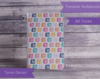 Dashboard for Traveler's Notebook - Various Sizes with pocket option - Camerar & Turquoise pattern - All Sizes