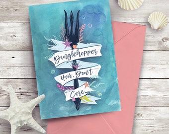 Dinglehopper Hair, Don't Card The Little Mermaid Disney Themed greeting card