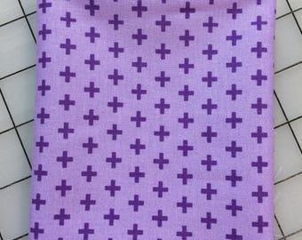 Windham Fabrics - FAT QUARTER cut of Meet the Royal Court - Crosses by Jill McDonald - 41637-8 Purple