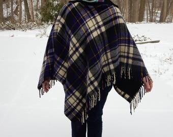 Wool Cape, Blanket Cape, Poncho