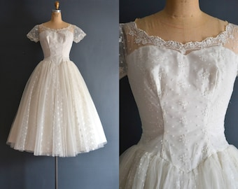 Brooke / 50s wedding dress / bridal gown