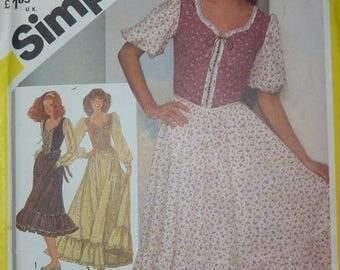 Vintage Simplicity Misses' Dress Pattern 5361 Size 14