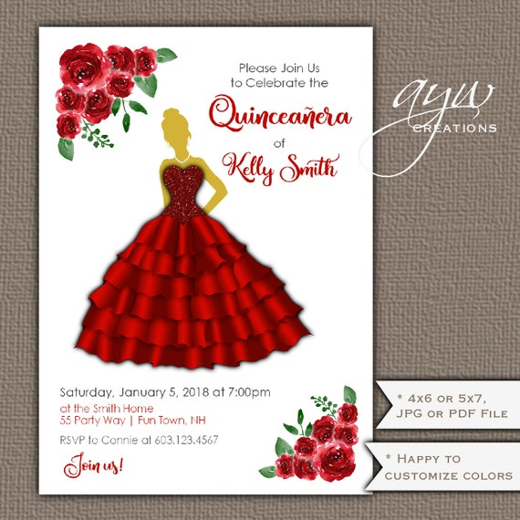 Quinceanera invitations dress quinceanera party invitation dress il570xn filmwisefo