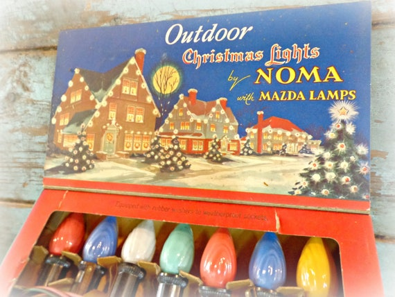 vintage noma christmas lights working outdoor lights antique