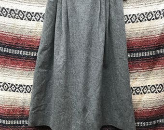 Vintage Pendleton Wool Skirt in Grey