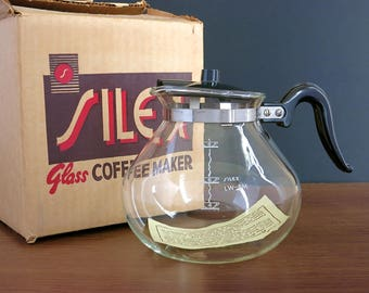 Silex Glass Carafe - Replacement Silex Carafe for Vacuum Coffee Makers - Unused, Boxed Silex Glass Coffee Pot for Vacuum Coffee Makers