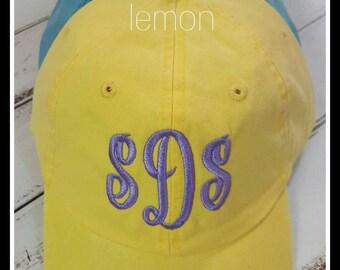 Adams Brand Monogram Baseball Cap*cool crown* summer hats* pool hat* lake hat