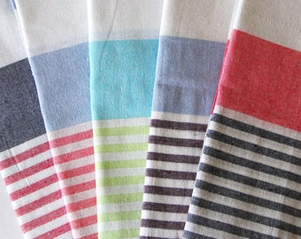 Turkish Towel Peshtemal - 100% Cotton Hamam Towel Turkish Towel Beach, Gym Towel or Throw - Choice of Colours