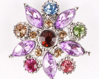 Multicolor Rhinestone Snap Button For Snap Jewelry 1