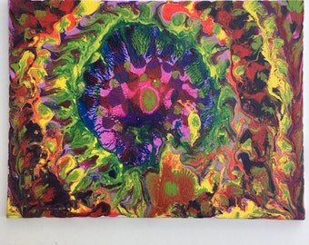 Psychedelic abstract painting number 473 or something. Abstract outsider art that you're going to love.