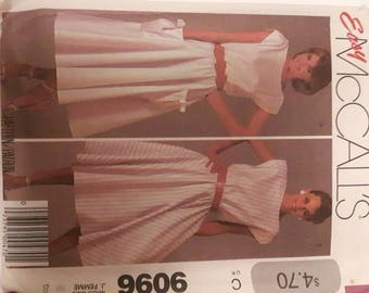 McCalls Vintage Out of Print Discontinued Sewing Pattern 9096