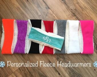 Personalized Fleece Headwarmers Ear Warmers Headband-Great Gift
