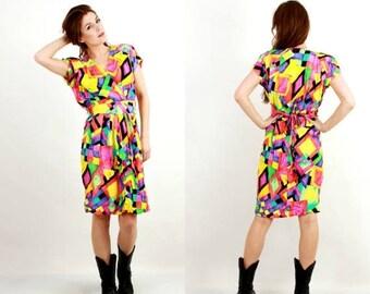 SALE Vintage Multicolored Sleeveless Dress