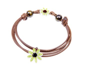 flower Bracelet, Porcelain bracelet,