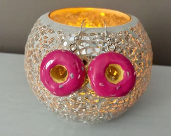 Pink Donought Earrings