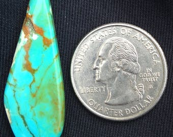 Bold and rich Kingman turquoise center bead! Side drilled