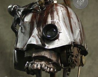 Steampunk Skull Industrial Art Dental Medical Manikin Model Metal