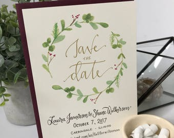 Boho Save the Date . Boho Wedding Save the Date Announcement . Bohemian Save the Date . Botanical Save the Date Card . Floral Save the Date