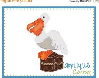 50% Off Pelican applique digital design for embroidery machine by Applique Corner