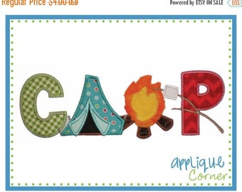 50% Off INSTANT DOWNLOAD CAMP Vertical applique design in digital format for embroidery machine by Applique Corner