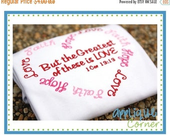 40% OFF 907 Hope Faith Love Valentine's Day applique design in digital format for embroidery machine by Applique Corner
