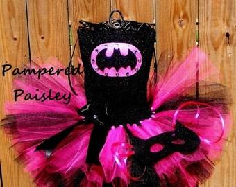 PRE HALLOWEEN SALE batgirl tutu, batman tutu, batgirl tutu dress, batman tutu dress, halloween costume, batgirl birthday, superhero birthday