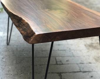 Live Edge Coffee Table, Wood Coffee Table, Table, Living Room Table, Minimalist Coffee Table