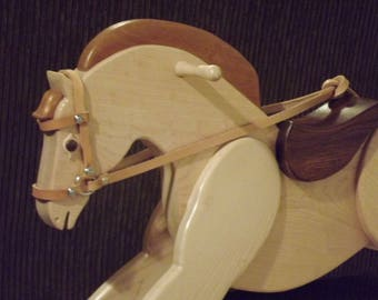Drakin the outrageous and unique hand crafted wooden rocking for Hand crafted rocking horse