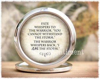 I Am the Storm  • Pocket Mirror • Compact Mirror • Warrior • Inspirational Gifts • Make Up Mirror
