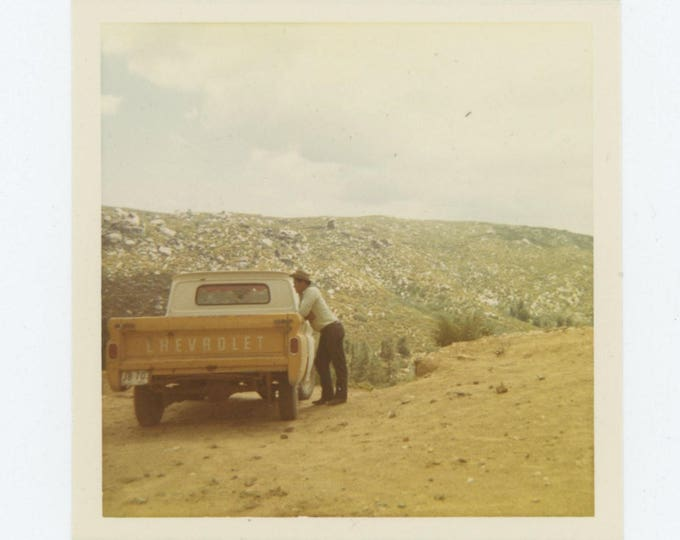 Vintage Snapshot Photo: Chevy Truck c1960s-70s (78601)