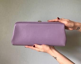 Vintage 60s Lilac Clutch