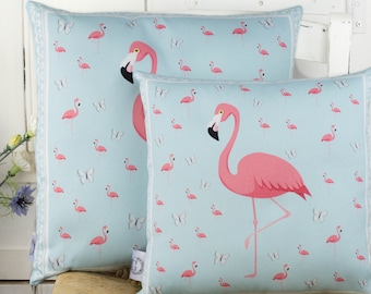 Flamingo Pillow Beautiful Flamingo Gift for girls bedroom or birthday gift for her