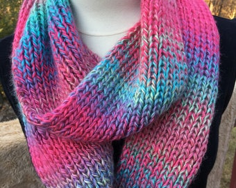 Variegated infinity scarf