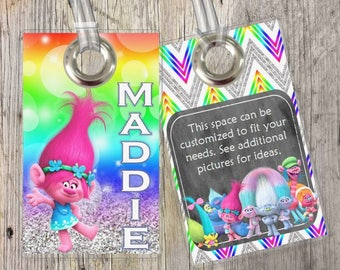 Trolls - Poppy - Custom Tags for Backpacks, Luggage, Diaper Bags & More!