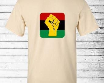 Pan African Flag T-Shirt, Africa Shirt, Black Lives Matter Shirt, Hippie Shirt, Graphic Tee, Boho Buttons, Activism, Political Shirt, Resist