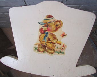 Toy Doll Cradle Vintage Wood Handmade Baby Doll Bed