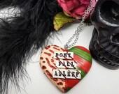 Freddy Krueger, Nightmare on Elm Street necklace, Slasher Movie, horror movie, Horror Heart Necklace