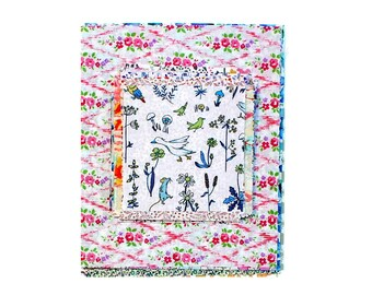 Liberty ~ Betsy P Blue Tana Lawn Fabric quilting dressmaking baby nursery