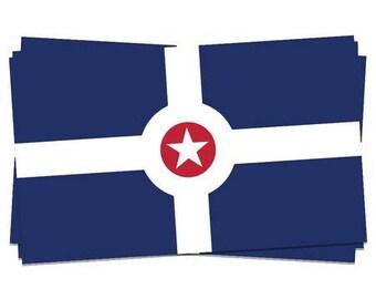 Indianapolis City Flag Sticker