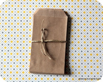 Brown kraft little bags (set of 10) 7cm x 11,3cm made in french