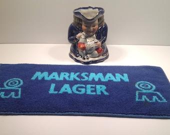 Vintage Marksman Lager Bar Towel