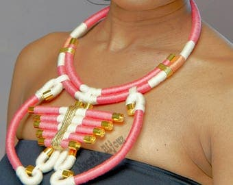 Tribal Statement Necklace (rope/thread)